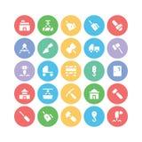 Konstruktionsvektorsymboler 7 Arkivbild