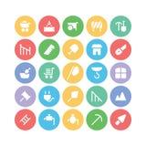 Konstruktionsvektorsymboler 10 Arkivbilder