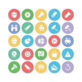 Konstruktionsvektorsymboler 11 Arkivbild