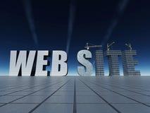 konstruktionswebsite Royaltyfria Bilder