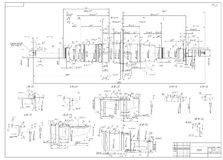 Konstruktionszeichnungen der Antriebswelle Lizenzfreies Stockfoto
