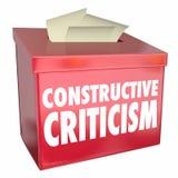 Konstruktywnie krytyki propozyci pudełka Pomocniczo informacje zwrotne 3d Illust ilustracja wektor