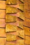 Konstruktywnie szczegóły drewniany kościół od Rumunia Obrazy Royalty Free