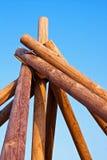 konstruować bele konstruują drewnianego Fotografia Royalty Free