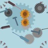 Konstruować i narzędzie bezszwowy wzór Zdjęcie Stock