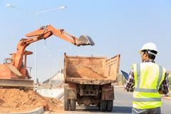 Konstruuje budowę drogi Zdjęcie Royalty Free