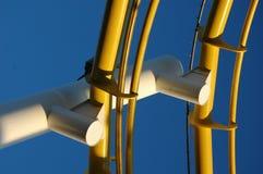 konstruuje kolor żółty Zdjęcia Stock