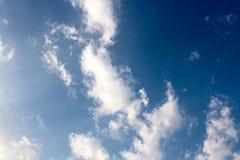 Konstsikten av molnet Arkivfoto