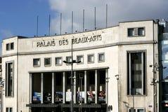 Konstslott, Art Deco, Charleroi, Belgien arkivfoton