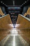 Konstströmkrets av den Naples tunnelbanan, station Toledo Arkivfoto