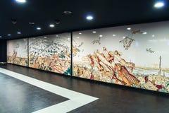 Konstströmkrets av den Naples tunnelbanan, station Toledo Royaltyfria Foton
