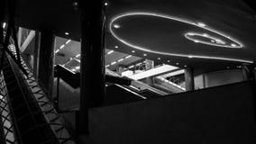 Konstströmkrets av den Naples tunnelbanan, underjordisk passage till centret Royaltyfria Foton
