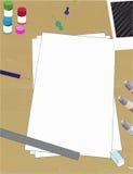 Konststudio av formgivare stock illustrationer