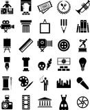 Konstsymboler stock illustrationer