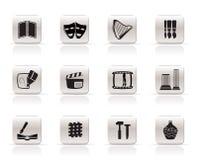konstsymbolssymboler ställde in vektorn Arkivbilder