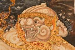 konstväggmålningar som målar stiltempelwallthai royaltyfri fotografi