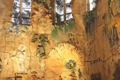 Konstverk av keramik i domkyrkan Santa Maria i Palma de Mallorca Arkivfoto