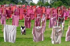 Konstverk cirkeln av kläder med älsklings- skåpbil de Luijtgaarden Fotografering för Bildbyråer