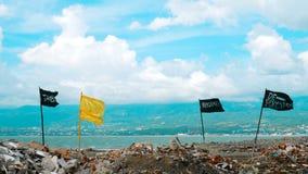 Konstverk efter tsunami royaltyfri fotografi