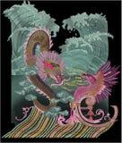 Konstverk förhöjda Digital för tappning för illustration och för växt för textiltryckMughal blomma manuellt royaltyfri illustrationer