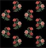Konstverk förhöjda Digital för tappning för för Mughal blommaillustration och växt manuellt royaltyfri illustrationer
