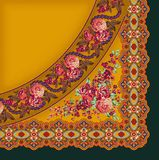 Konstverk förhöjda Digital för tappning för för Mughal blommaillustration och växt manuellt vektor illustrationer