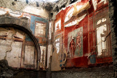 Konstverk Herculaneum fördärvar, Ercolano Italien Royaltyfria Foton