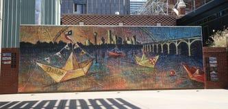 Konstverk konstområde Dallas, TX Arkivfoto