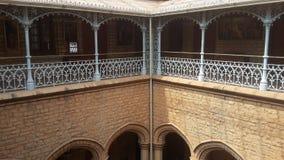 Konstverk på den Banglaore slotten, Bengaluru, Indien royaltyfria foton