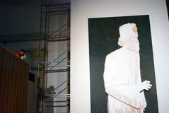 Konstverk på den 6th Moskva Biennale av samtida konst Arkivfoton