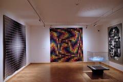 Konstverk på det Vasarely museet i den Pecs Ungern Fotografering för Bildbyråer