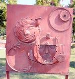 Konstverk som göras av förlorat järnmaterial Arkivfoton