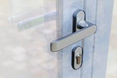 Konstverkillustrationen av ett handtag för yttre dörr och säkerhet låser arkivfoto