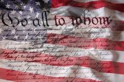 konstytuci amerykańska flaga zdjęcia royalty free