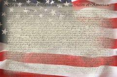 konstytuci amerykańska flaga Obrazy Stock