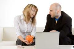 konsulentfinansutgångspunkt Arkivbild