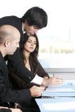 Konsultacja z asekuracyjnym agentem Obraz Stock
