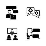 konsultacji z biznesu Proste Powiązane Wektorowe ikony ilustracja wektor