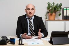 Konsultant dyskutuje plan biznesowego zdjęcie stock