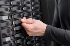 IT konsultant Utrzymuje SAN i serwerów zdjęcia royalty free
