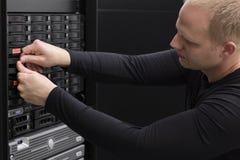 IT konsultant Zamienia Ciężką przejażdżkę w SAN zdjęcie royalty free