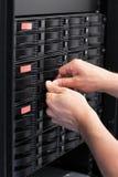 IT konsultant Zamienia Ciężką przejażdżkę w SAN zdjęcia stock