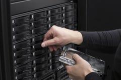 IT konsultant Zamienia SAN Ciężką przejażdżkę zdjęcie stock
