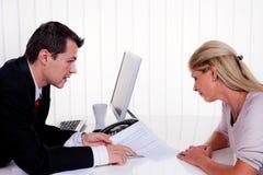 konsultationdiskussion arkivfoton