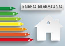 Konsultera för kategori för husenergieffektivitet royaltyfri illustrationer