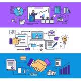 Konsulterande affärsidé för konferens vektor illustrationer