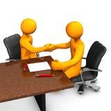 Konsulterande avtal stock illustrationer