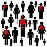 konsumentów target1018_0_ Obrazy Royalty Free
