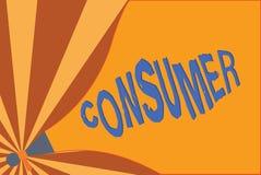 Konsument för handskrifttexthandstil Begrepp som betyder demonstrering som inhandlar varor och tjänst för demonstratingal användn stock illustrationer