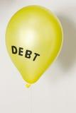 Konsumenta, rządowego i pieniężnego długu bąbel, Obrazy Stock